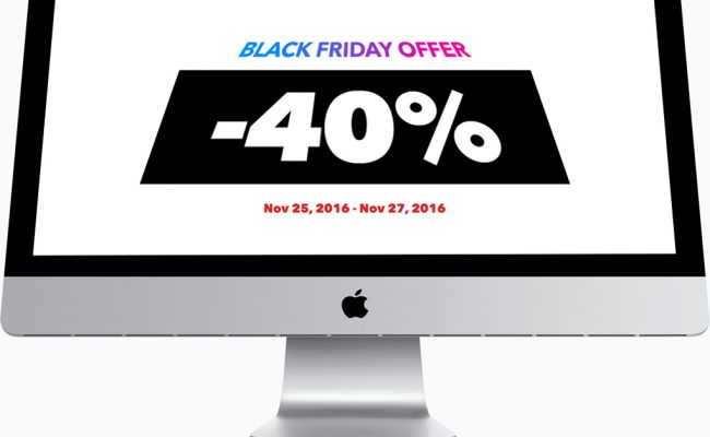 Black Friday Deal -40%